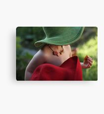 Partying in my green hat Canvas Print