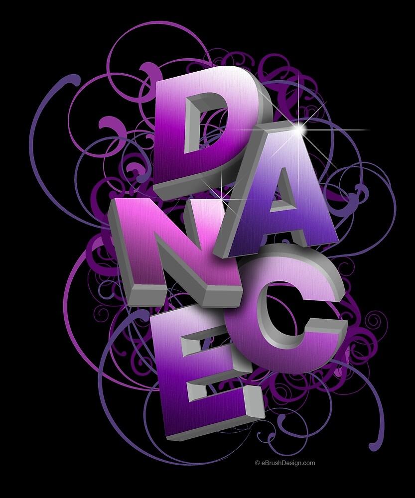 3D Dance Typographic Dance and Ballet Design (Summer) by eBrushDesign
