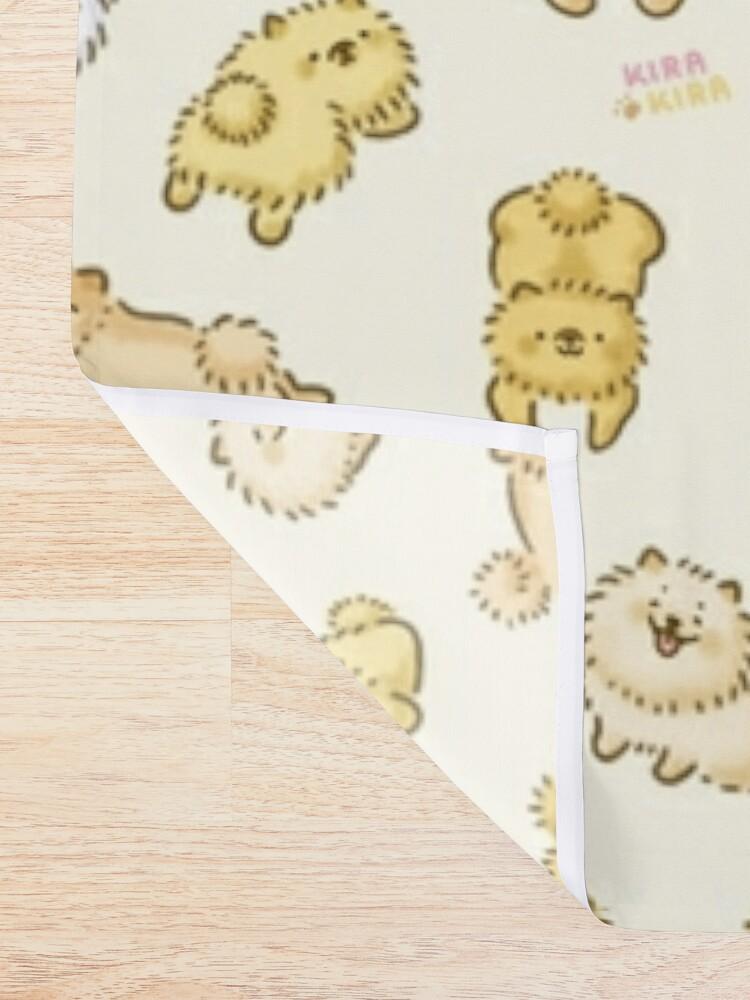 Alternate view of Pom Life! Kawaii Pomeranian Doodle Shower Curtain