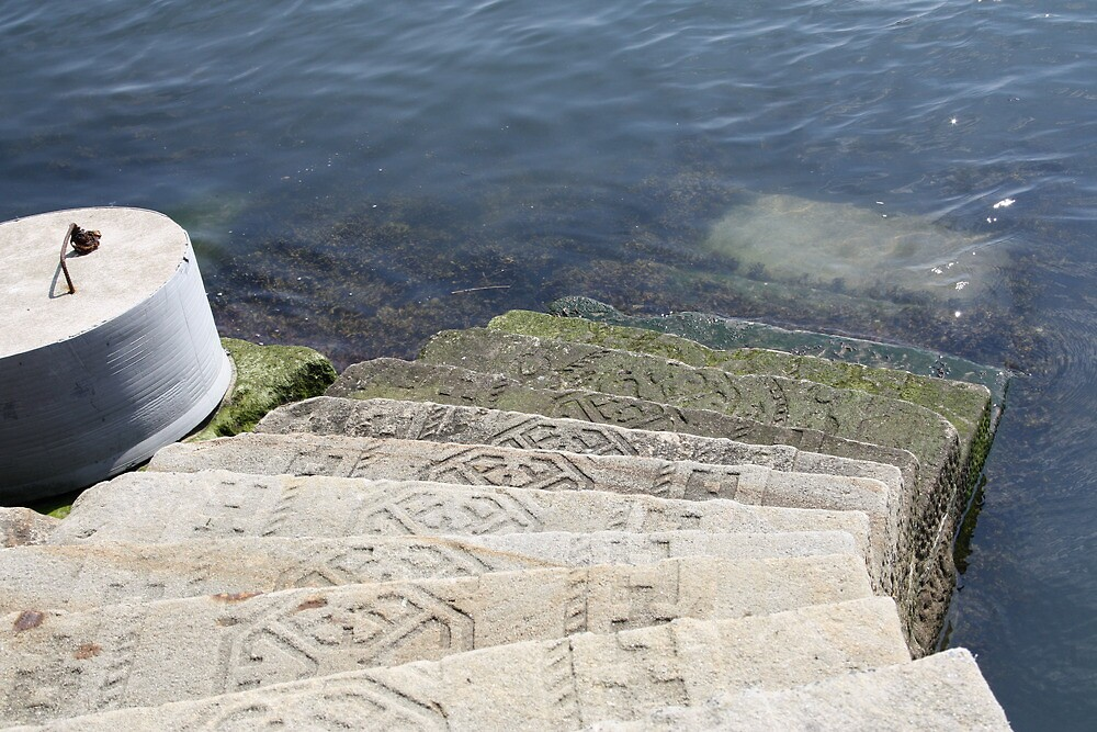 Steps Leading to the sea by decoratingrosie