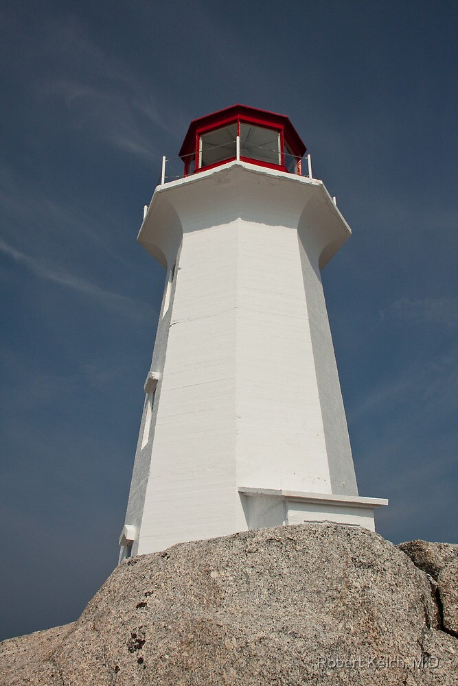 Peggy's Cove Lighthouse, Nova Scotia by Robert Kelch, M.D.