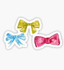 watercolor bow Sticker