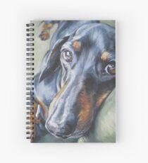 Dachshund Fine Art Painting Spiral Notebook