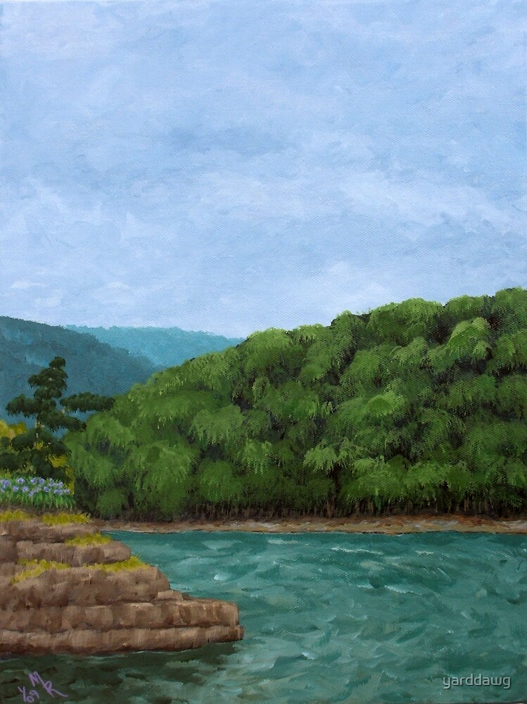 Before Rain - Mountain River Painting by yarddawg