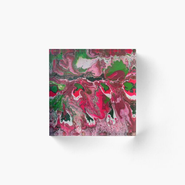 Pink and green Acrylic Block