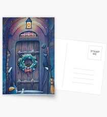 Ghibli Christmas in Howls Moving Castle Postcards