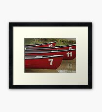 Boats on a lake, Canada Framed Print
