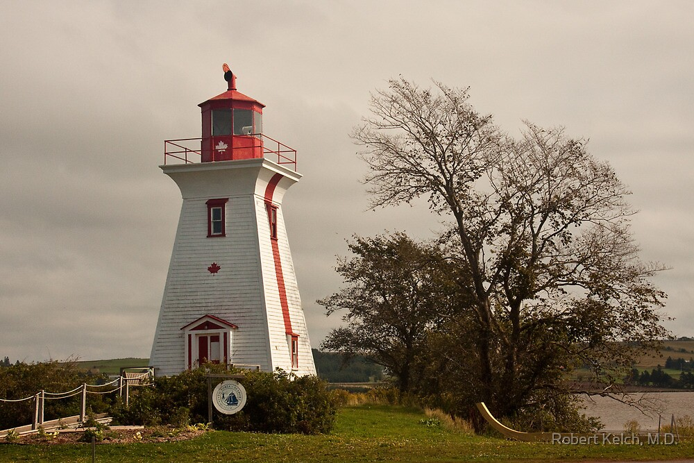 Victoria Harbor Lighthouse - Prince Edward Island by Robert Kelch, M.D.