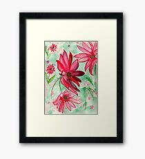 The Red Flowers for Christmas Framed Print