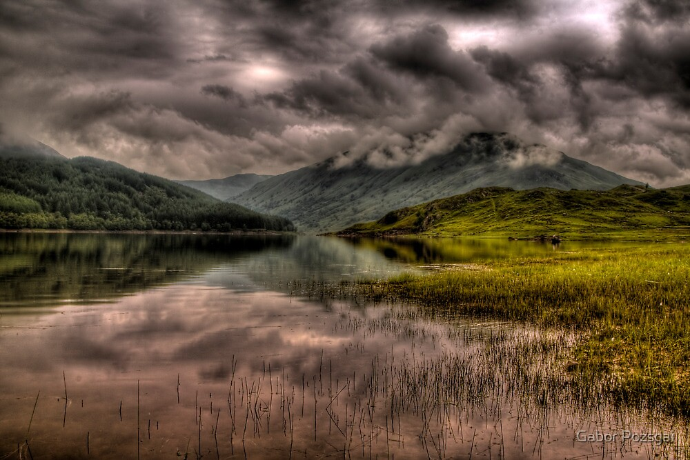 Low clouds over the Glen Finglas Reservoir by Gabor Pozsgai
