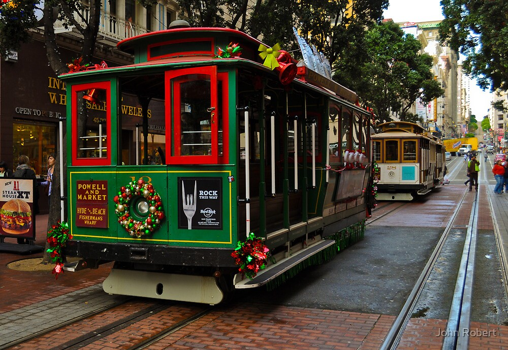 Xmas Cable Car, San Francisco 2010 by Bob Moore