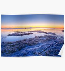 Boundary Bay Frosty Dawn Poster
