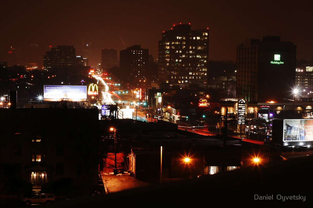 West End Ave. - COLD DECEMBER NIGHT 2010 by Daniel  Oyvetsky