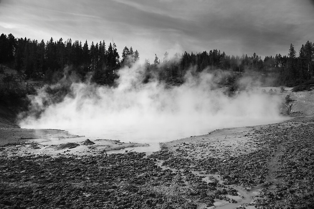 Yellowstone National Park - Mud Pots by Frank Romeo