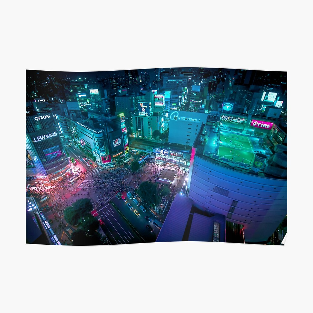 Shibuya crossing from above Poster