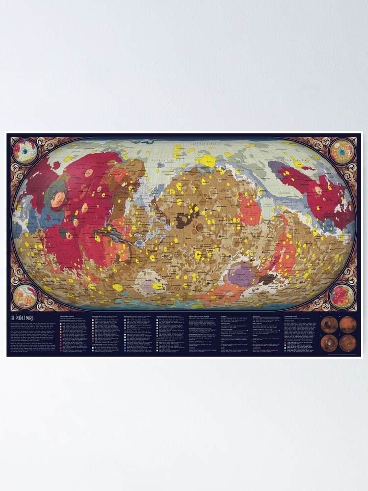 Alternate view of The Geology of Mars Poster