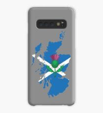 Scottish thistle & map. Case/Skin for Samsung Galaxy