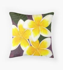 Sweet Frangipanis Throw Pillow