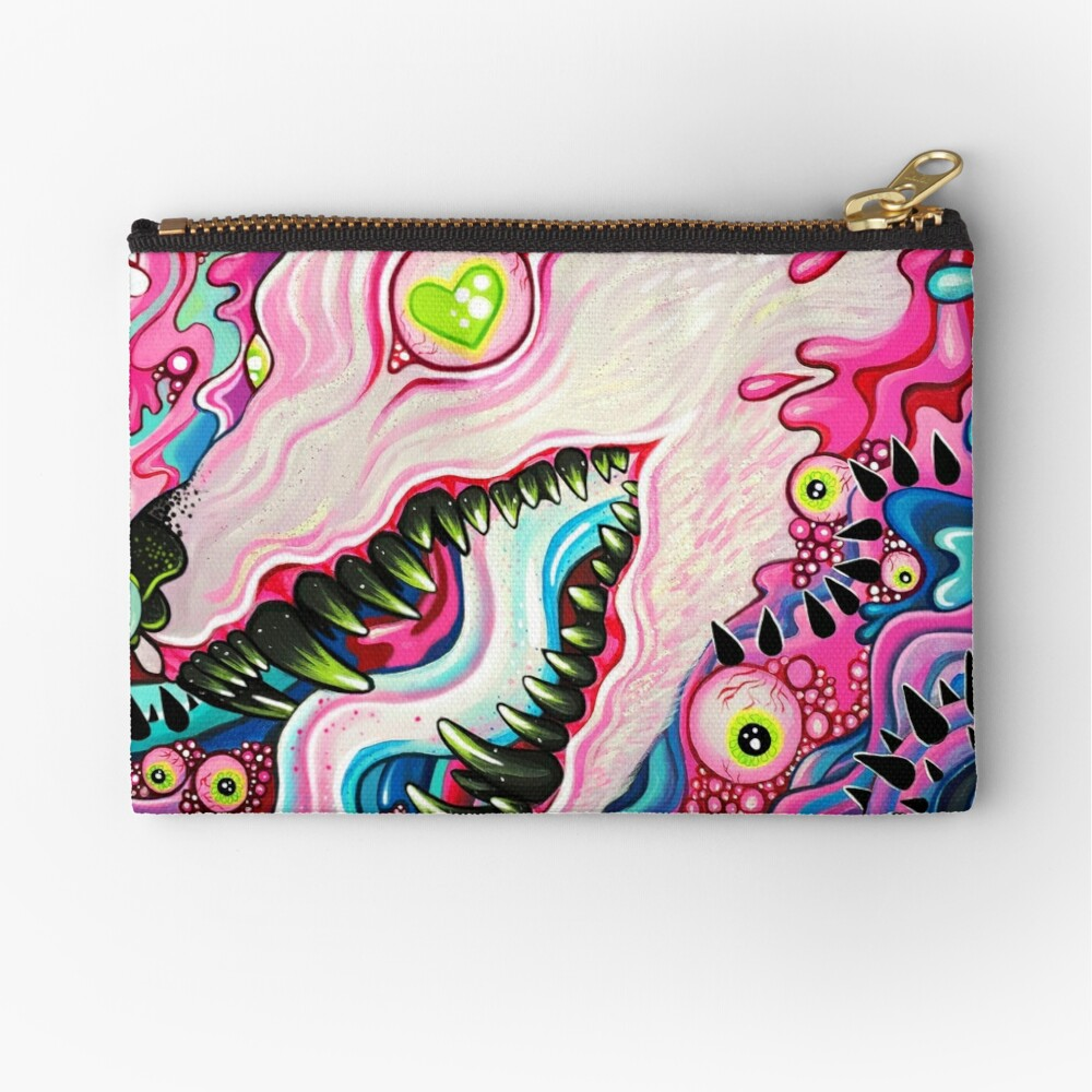 Glitterwolf Acrylic Painting Zipper Pouch