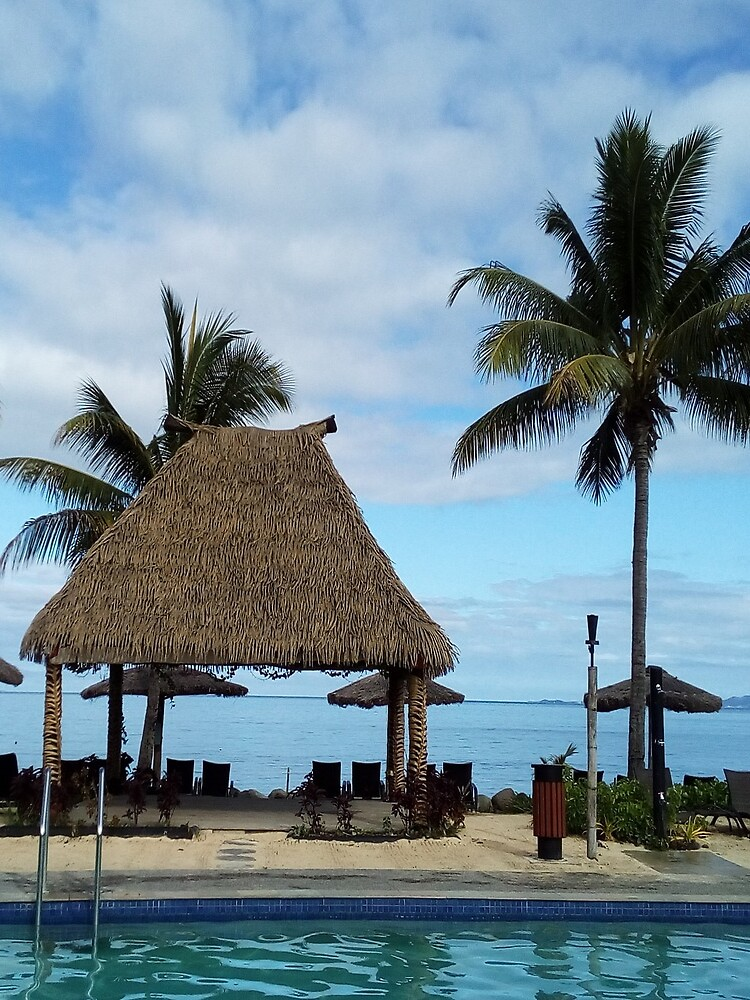 FIJI Islands Fijian Bure by KarenBarron