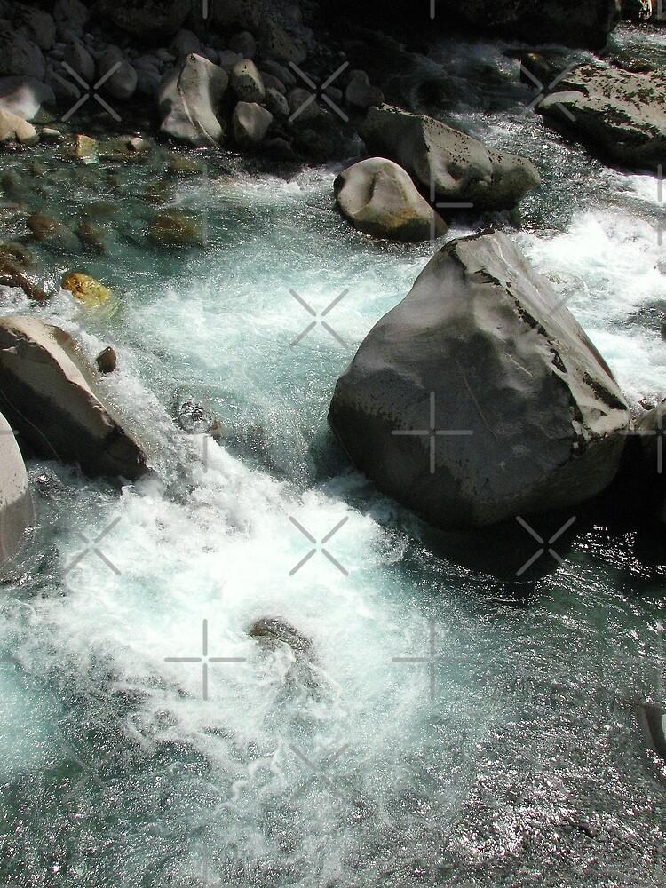 Rocks = New Zealand  by Louise Linossi Telfer