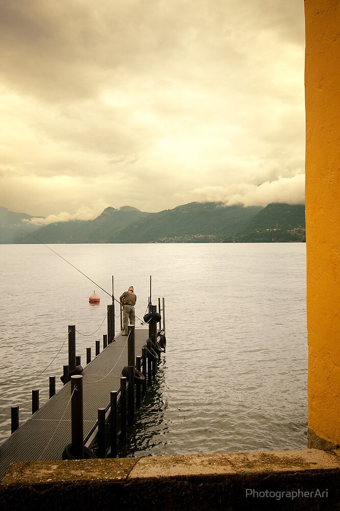 Italian Dock and Fisherman by PhotographerAri