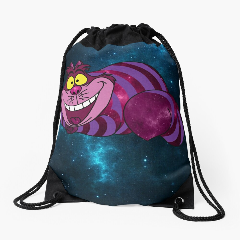 Cheshire Space Cat Drawstring Bag
