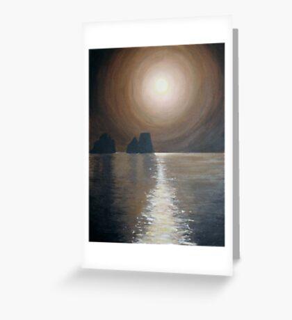 Chocolate sunset - Faraglioni, Capri Greeting Card