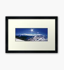 Sunburst over Mt Feathertop and Mt Jaithmathang Framed Print