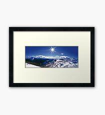 Sunburst over Mt Feathertop and Mt Jaithmathang Framed Print