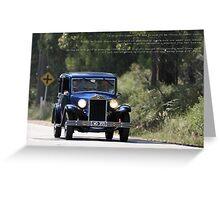 Lancia Augusta Berlina Greeting Card