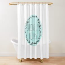 Chronically Clumsy Teal Shower Curtain