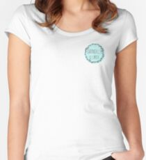 Chronically Clumsy Teal Fitted Scoop T-Shirt