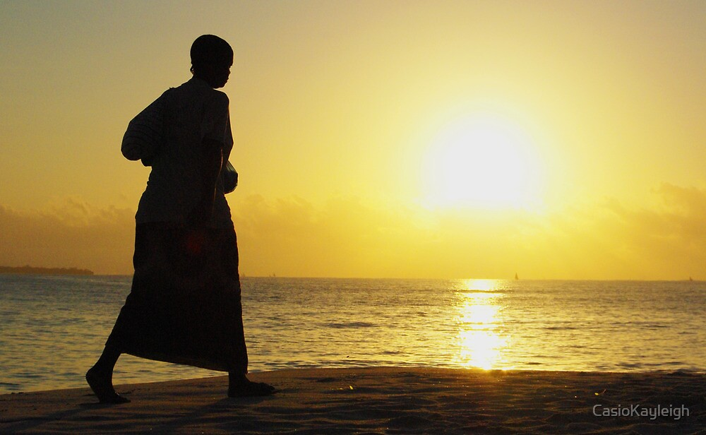 Womans silhouette on the African Sunrise by CasioKayleigh
