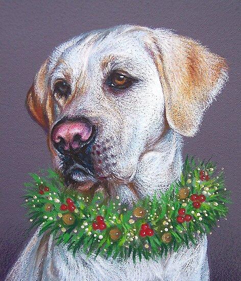 Christmas Lab by Elena Kolotusha