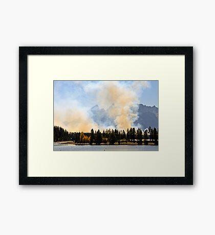 Fires in Grand Teton Framed Print