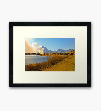 Fires in Grand Teton - 2 Framed Print