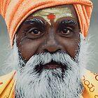 Sadhu - Acrylic Painting by Scott Simpson