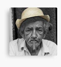 Mr Habanos Hat  Canvas Print