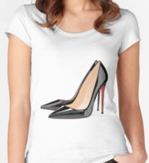 heels aka femme fatale Women's Fitted Scoop T-Shirt