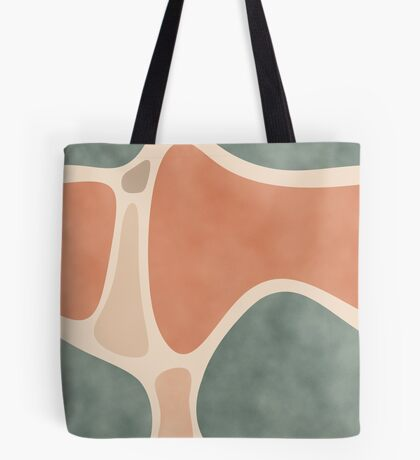 Earth Tones Shapes #redbubble #abstractart Tote Bag