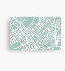 Minimal Maps (Green) - Cape Town S.A. Canvas Print