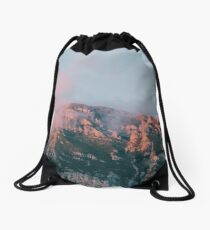 Mountains in the background VI Drawstring Bag