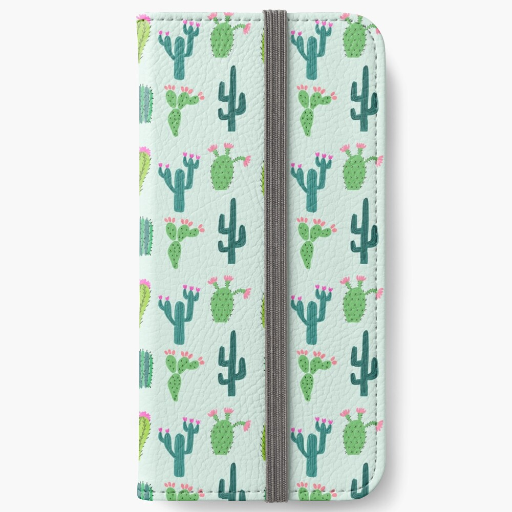 Cactus Time iPhone Wallet