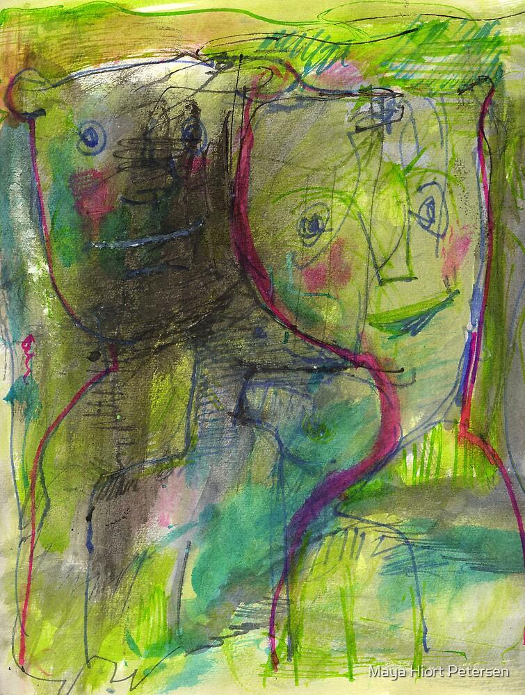 Friends in Green Lighting by Maya Hiort Petersen