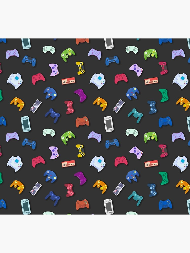 Video game controller background Gadgets seamless pattern by Darcraft28