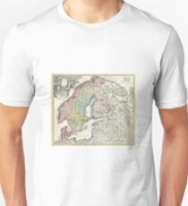Old map of Scandinavia Unisex T-Shirt