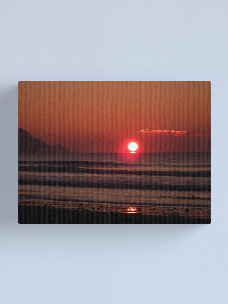 Alternate view of Cornish Sunset 03 Canvas Print