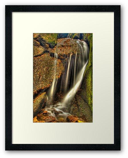Little waterfall at Burn O'Vat, Dinnet by Gabor Pozsgai