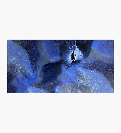 Blue cave Photographic Print
